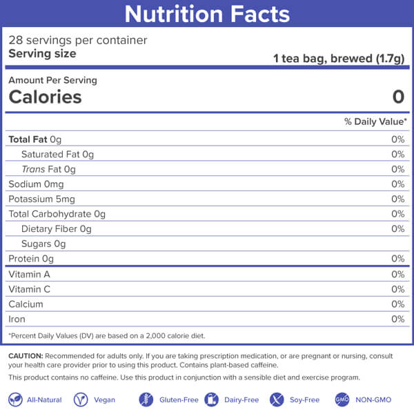 ZzzTox nighttime detox nutrition facts